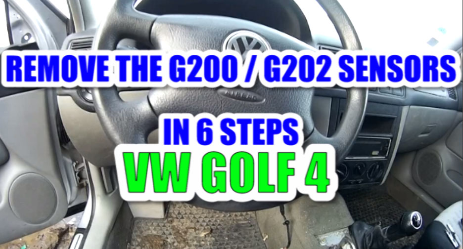 How to remove / change the yaw rate sensor G202 and the lateral acceleration sensor G200 in 6 steps