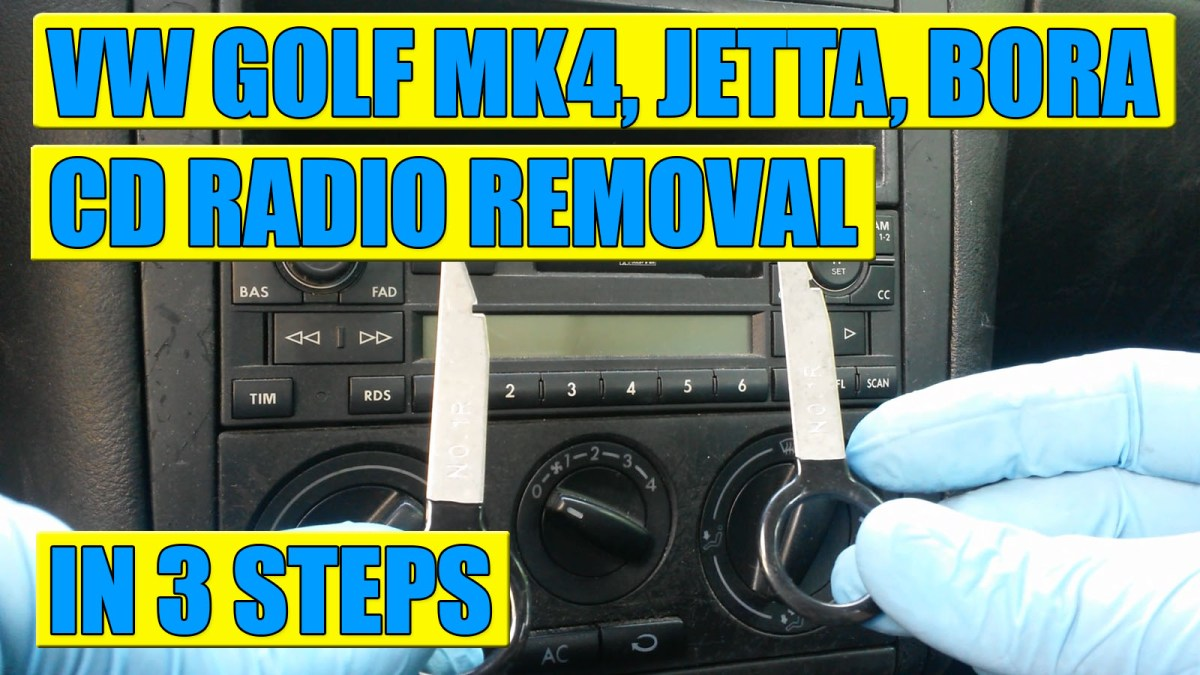TUTORIAL: How to remove Radio Stereo CD on VW Golf Mk4, Bora, Jetta in 3 simple steps!