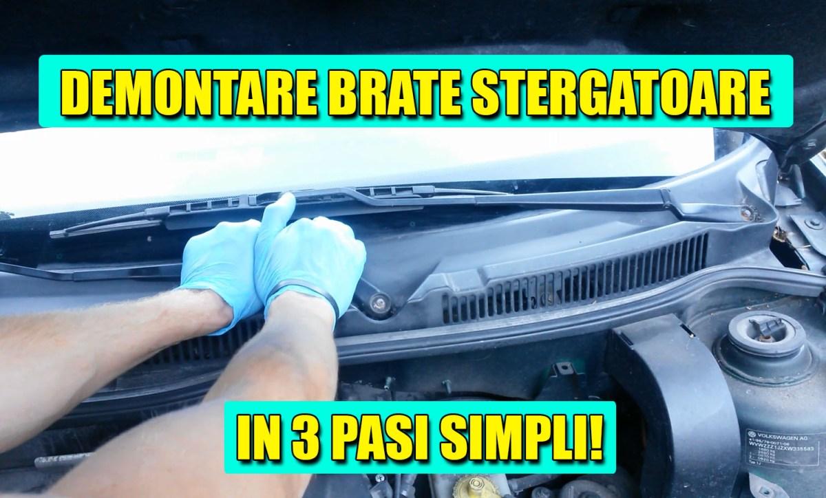 TUTORIAL: Cum scoti / demontezi brate stergatoare VW Golf 4, Bora, Polo, Passat, Skoda Octavia, Fabia, etc. in 3 pasi simpli