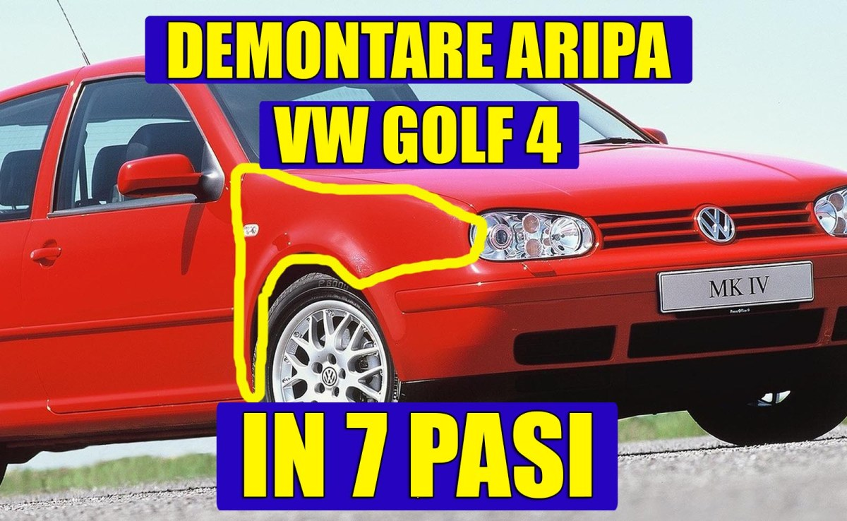 TUTORIAL: Demontare aripa fata la VW Golf 4 / Bora in 7 pasi simpli