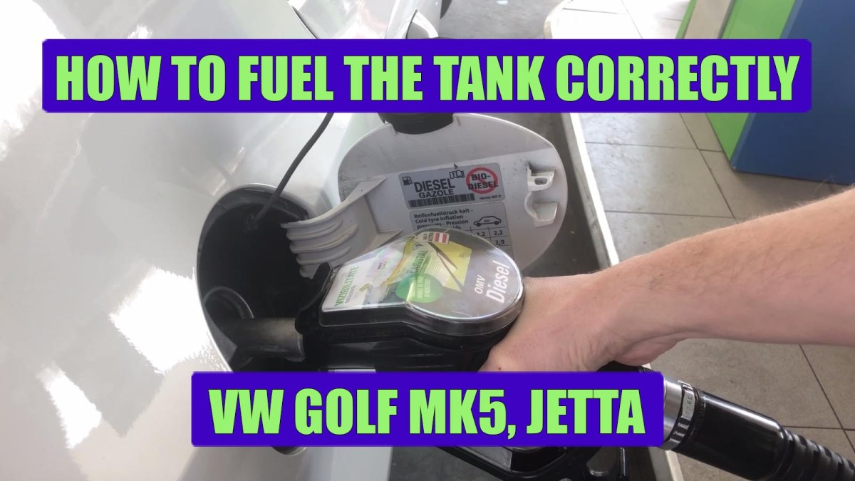 TUTORIAL: How to fill the tank correctly on VW Golf Mk4, Mk5, Jetta, Passat, Touran, Polo