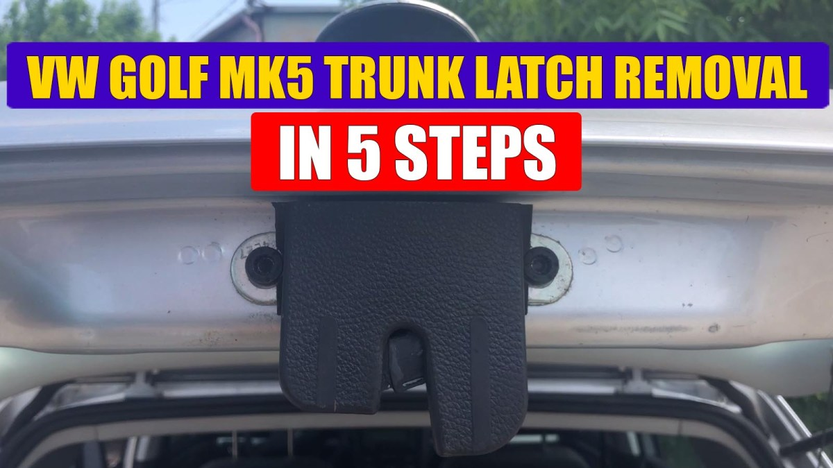 TUTORIAL: How to remove boot lock / trunk latch from VW Golf Mk5 in just 5 simple steps