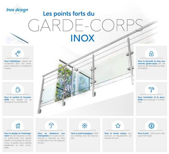 Garde corps en inox les points forts