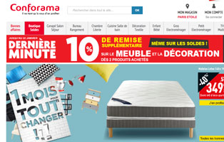 conforama soldes code promo de 10 sur les meubles et. Black Bedroom Furniture Sets. Home Design Ideas