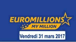 🔥Résultat Euromillions et My Million (FDJ) vendredi 31 mars 2017