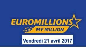 Résultat Euromillions et My Million (FDJ) tirage du Samedi 21 avril 2017