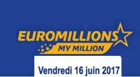 Résultat Euromillions et My Million (FDJ) tirage du vendredi 16 juin 2017