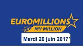 Résultat Euromillions et My Million (FDJ) tirage du Mardi 20 juin 2017