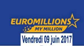 Résultat Euromillions et My Million (FDJ) tirage du Vendredi 9 juin 2017