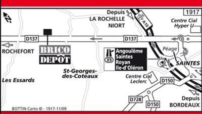 map brico depot saintes
