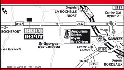 map brico depot saintes
