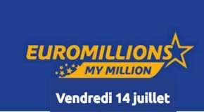 Résultat Euromillions et My Million (FDJ) du Vendredi 14 juillet 2017
