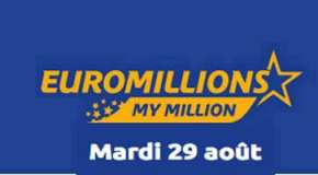 Résultat Euromillions et My Million (FDJ) tirage du Mardi 29 Août 2017