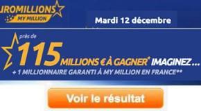 Résultat Euromillions et My Million (FDJ) tirage Mardi 12 Décembre 2017