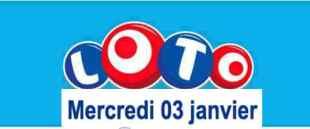 résultat loto 3 janvier 2018
