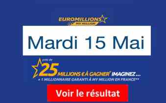 résultat euromillions mardi 15 mai 2018