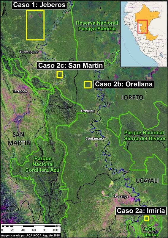 Mapa Base. Fuentes: SERNANP, MAAP