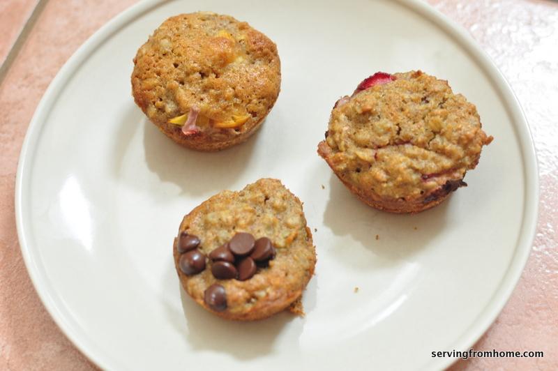 whole wheat soaked oatmeal muffins