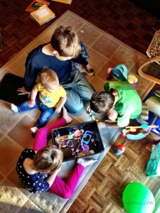 Homeschooling 3 with a baby