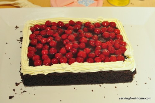 Black Forest Cake layers