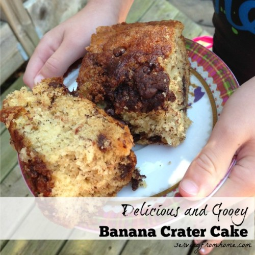 Banana Chocolate Crater Cake