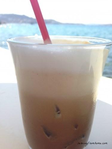 Cappuccino Freddo in Little Venice, Mykonos