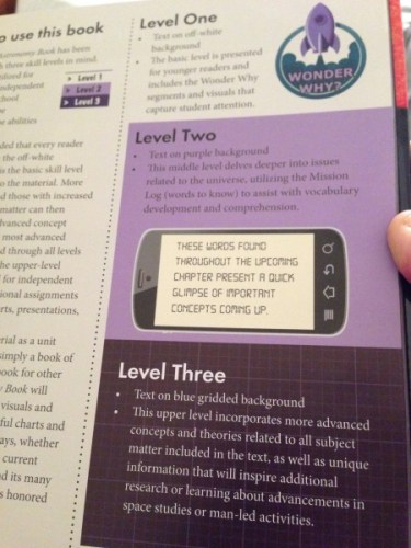 Astronomy book reading levels