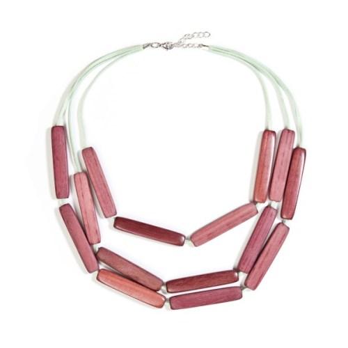 trc purple heart wood necklace