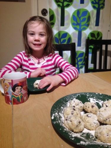chocolate chunk snowball cookies
