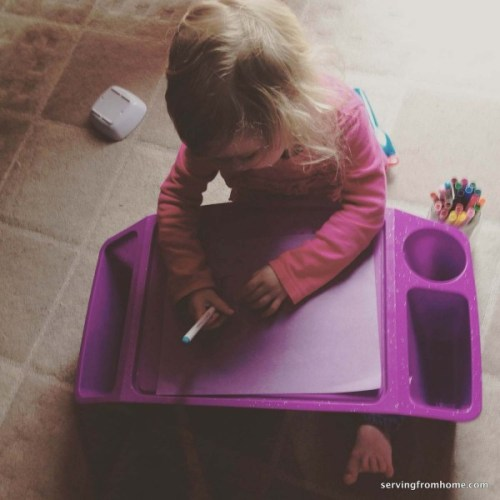 Grapevine study toddler drawing
