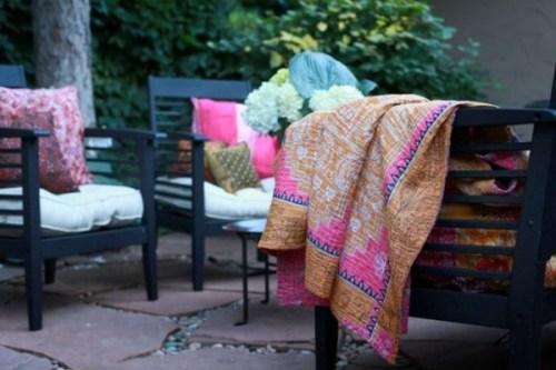 Sari Bari throw blanket