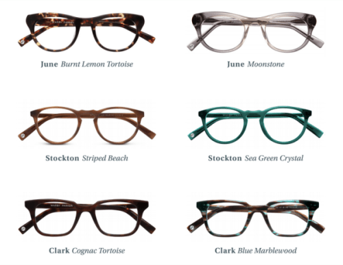 Warby Parker Prescription Eyeglasses Summer Collection