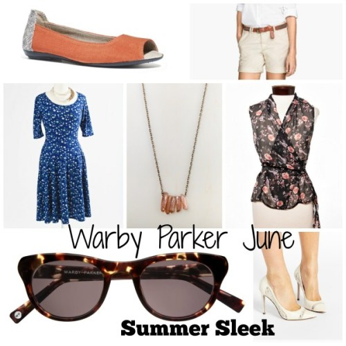 Warby Parker June Burnt Lemon Tortoise Summer Sleek Collection