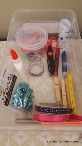 art activity box supplies
