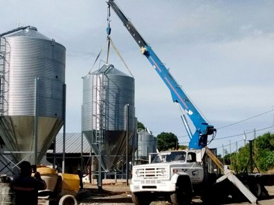 Montaje de Silos para el sector agricola
