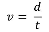 formula vitezei voteza = distanta supra timp