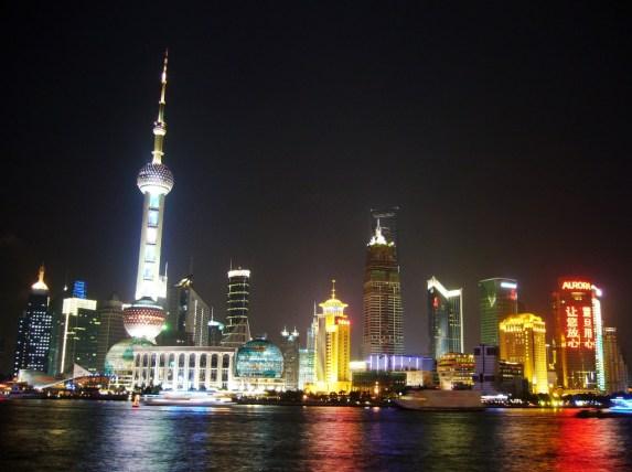 Shanghai Pudong waterfront Huangpu River