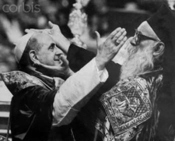 Pope Paul VI and Athenagoras Greeting