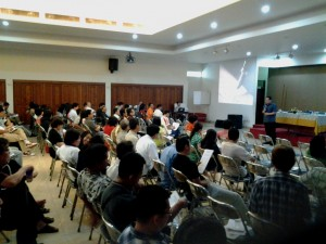 Jakarta Archdiocese Social Communication Chief Father Harry Sulistyo delivered his presentation 1
