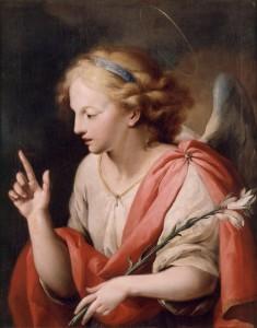 José Camarón y Bononat. Archangel St Gabriel. second half of the 18th century