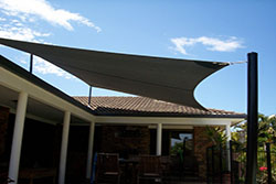 Residential Shade Sail from South East Shade Sails
