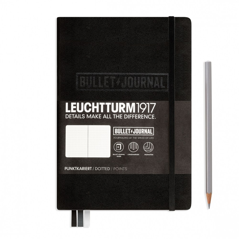 bullet-journal-notebook-medium-a5-hardcover-240-numbered-pages-dotted-black