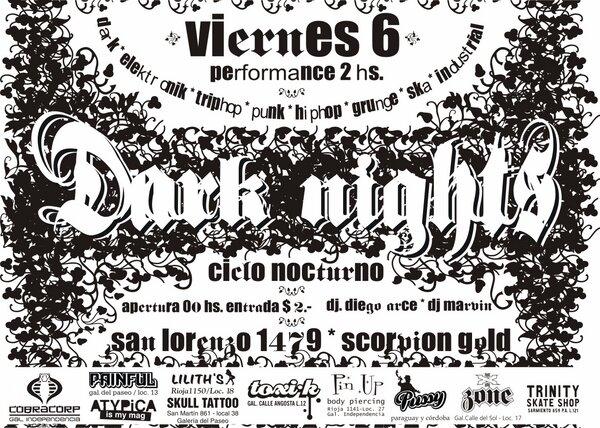 diseño para dark nights