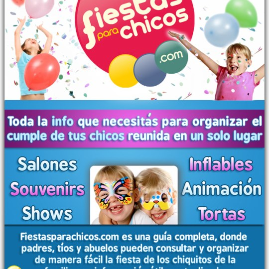 Diseño de Newsletter para Infoenvios – Cliente: Fiestas para Chicos
