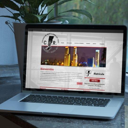 Diseño web Colegio Martilleros Rosario