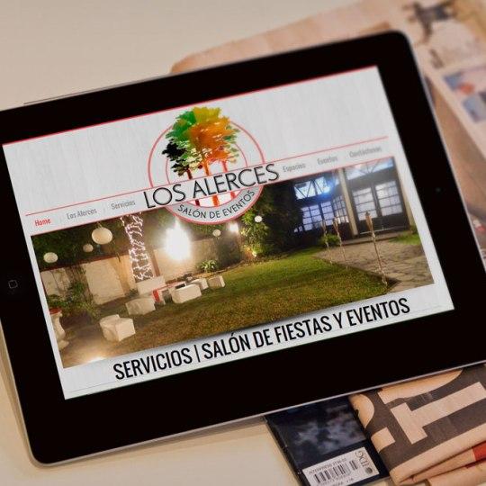 Diseño web para los Alerces Salón de Eventos