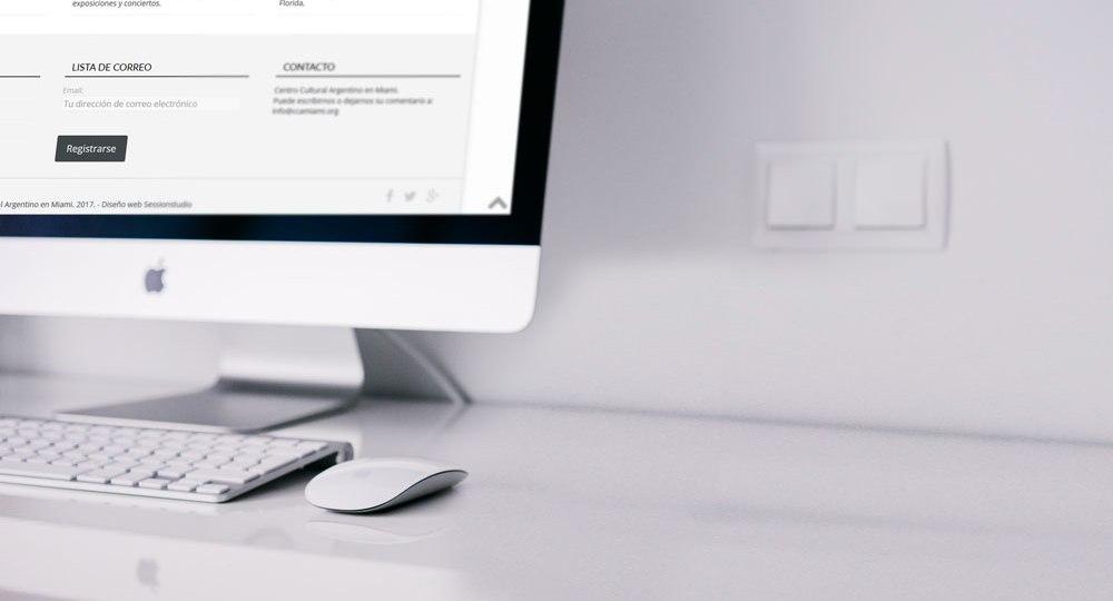 Diseño web Centro Cultural Argentino en Miami