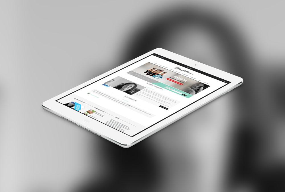 diseño web para Elisa Bellmann
