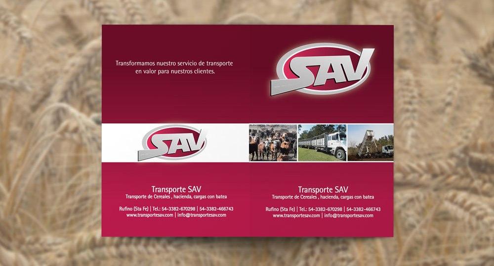Diseño de carpeta A4 para SAV