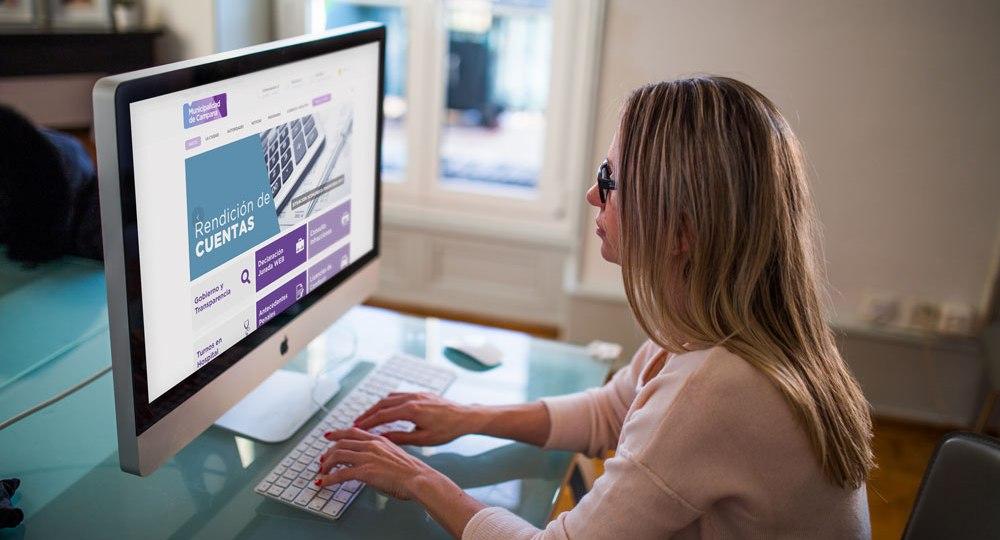 diseño web municipalidad de Campana